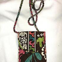 Vera Bradley Moon Blooms Chain Strap Cell Phone Case Crossbody 6 X 4  Euc Photo