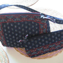 Vera Bradley Navy Blue Red Paisley Flower Shoulder Bag Purse Coin Wallet Lot 2 Photo