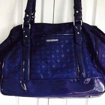 Vera Bradley Navy Microfiber Travel Bag/tote Photo