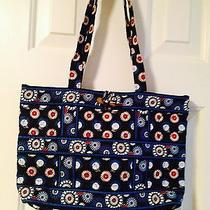 Vera Bradley Night Owl Quilted Tote Handbag Shoulder Bag Purse...like New Euc Photo