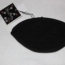 Vera Bradley Nwt Black Microfiber Crescent Cosmetic Photo
