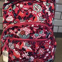 Vera Bradley Nwt Essential Large Backpack Bloom Berry Msrp 149 Floral Print Photo