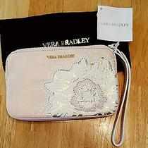 Vera Bradley Nwt La Flaur Sophie Leather Wristlet in Blush Photo