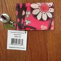 Vera Bradley Nwtretractable Id Badge Blush Pink Pattern-Grad College Gift Photo