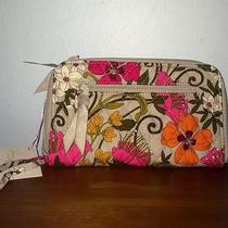 Vera Bradley Nwt Zip Around Wallet-Wrislet Tea Garden Iphone 5s Fits Free Ship Photo