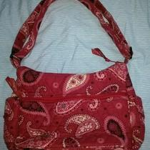 Vera Bradley on the Go Handbag Purse Bag Mesa Red Paisley Photo