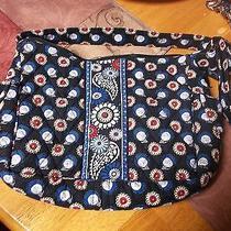 Vera Bradley Owl Shoulder Bag Purse Blue Photo