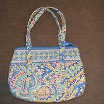 Vera Bradley Paisley Capri Blue Pocket Book / Tote Shoulder Bag. Excellent Photo