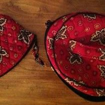 Vera Bradley Paprika Oval Cosmetic-Jewelry-Makeup Case and Zipper Case  Photo