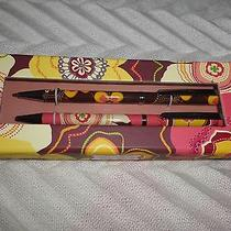 Vera Bradley Pen and Pencil Set Buttercup  New in Box Nwt Photo