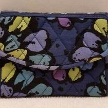 Vera Bradley Phone Case Wallet Wristlet Blue Floral Indigo Pop Photo
