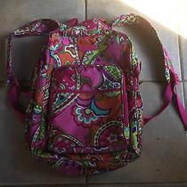 Vera Bradley Pink Designer Large Backpack Purse Tote Sling Photo