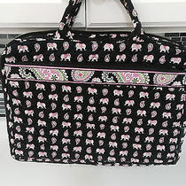 Vera Bradley Pink Elephant Tech/laptop Tote Photo