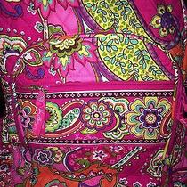 Vera Bradley Pink Swirls Campus Backpack Bag Nwt  Photo