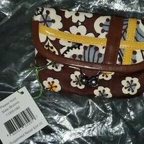 Vera Bradley Please Hold Kisslock Slate Bloom 11305-062 Coin Purse New With Tags Photo
