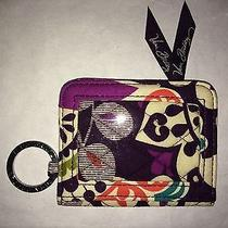 Vera Bradley Plum Crazy Double Campus Id Wallet  Photo