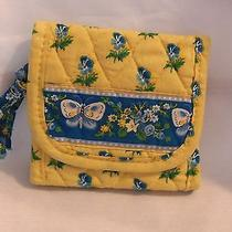 Vera Bradley Pocket Wallet Katherine Yellow Retired Very Good Condition Photo