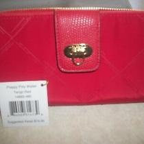 Vera Bradley  Preppy Poly Wallet  in Tango Red Clutch Wallet Nwt Photo
