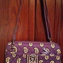 Vera Bradley Purple Paisley Hard Shell Mini Computer Bag Photo
