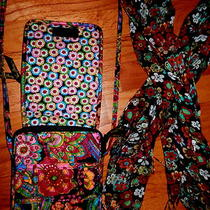Vera Bradley  Purse and Scarf  Symphony in Hue Retired Shabby Chic Boho  Cute Photo