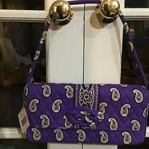 Vera Bradley Purse Bag Knot Just a Clutch Simply Violet Purple Paisley Nwt New Photo