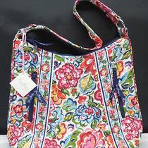 Vera Bradley Purse Shoulder Tote Bag Lisa B Hope Garden 2 Zipper Pockets Nwt New Photo
