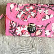 Vera Bradley Pushlock Wristlet Blush Pink Clutch Wallet Photo