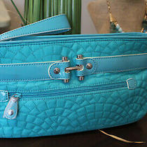 Vera Bradley Quilted Wristlet Clutch Nylon Turquoise Blue New Photo