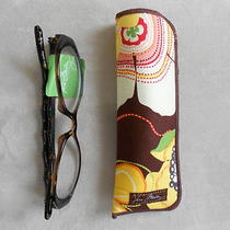 Vera Bradley Readers in Case Amanda Dark Demi Eyeglasses 2.50 New Photo