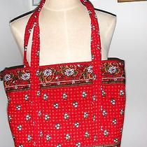 Vera Bradley Red Tote & Hand Bag W/ Matching Eyeglass Case & Free Evening Purse  Photo