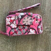 Vera Bradley Retired Blush Pink Id Holder Front Zip Wristlet Clutch Wallet Purse Photo