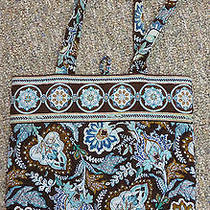 Vera Bradley Retired Java Blue Large Tote  Photo