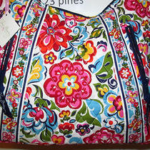 Vera Bradley Retired Lisa B Hobo Style Hope Garden Breast Cancer Sold Out Nwt Photo
