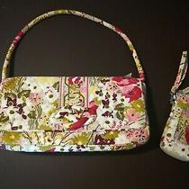 Vera Bradley Retired Make Me Blush Clutch Handbag Purse  Bonus Matching Wallet Photo
