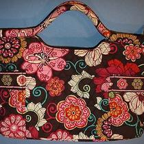 Vera Bradley Retired Pattern Mod Floral Pink Purse Handbag Carry All Travel Tote Photo