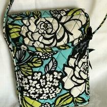 Vera Bradley Retired Quilted Purse Bag Island Bloom Turquoise Green Black Floral Photo