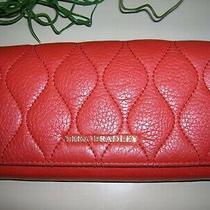 Vera Bradley Rfid Audrey Red Leather Bifold Clutch Women's Walletlk Photo