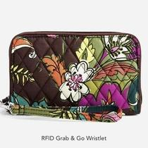 Vera Bradley Rfid Grand & Go Wristlet Autumn Leaves / Brand New Photo