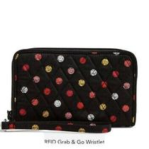 Vera Bradley Rfid Grand & Go Wristlet Havana Dots / Brand New Photo