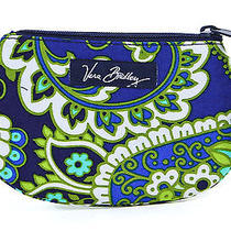 Vera Bradley Rhythm & Blues Clip Zip Id Case Wallet Gift Card Holder New Photo