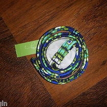 Vera Bradley Rhythm & Blues Keys Id Ring Lanyard Badge Necklace - Nwt Photo