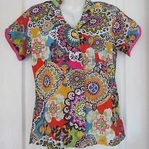 Vera Bradley 'Rio' Womens S (4- 6) or m(8-10) Pajama Top/ Shirt Bnwt Photo