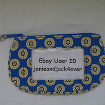 Vera Bradley Riveria Blue Clip Zip Id/key Ring/case New With Tags Free Shipping Photo