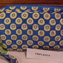 Vera Bradley Riviera Blue  Wristlet Bag  Nwt Photo