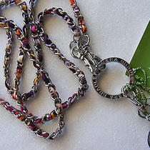 Vera Bradley Safari Sunset Id Badge Tag Key Cell Holder Necklace Lanyard Bin 825 Photo