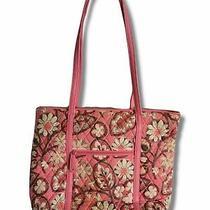Vera Bradley Shoulder Tote Handbag Purse in Floral Blush Pink Photo