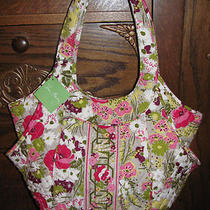 Vera Bradley Side by Side Tote Make Me Blush Shoulder Bag Purse Nwt Only 1   Photo
