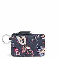 Vera Bradley Signature Cotton Zip Id Case Wallet Felicity Paisley Photo