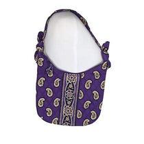 Vera Bradley Simply Violet Purple Hand Bag Purse Small Hobo 9.5 X 9 Cotton Tote Photo