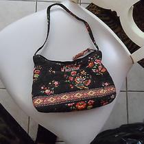 Vera  Bradley Small Handbag in Brown and Orange Pattern Photo